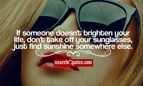 Quotes About Sunglasses And Life Twitter thumbnail