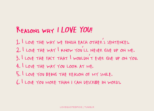 Reasons Why I Love You Quotes Facebook thumbnail