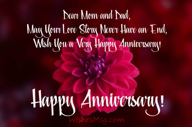 Short Anniversary Wishes For Parents Pinterest thumbnail