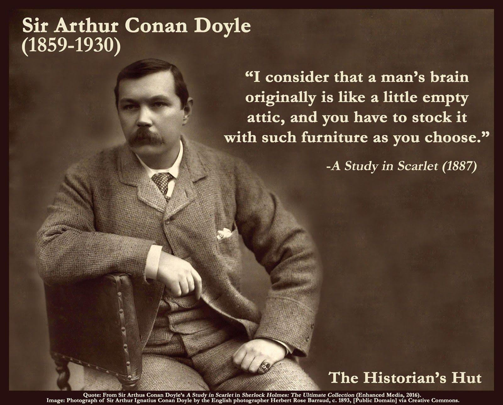 Sir Arthur Conan Doyle Quotes Tumblr thumbnail