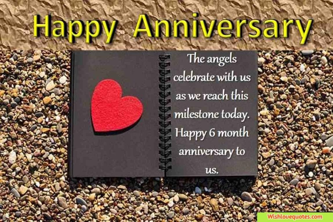 Happy anniversary 6 month