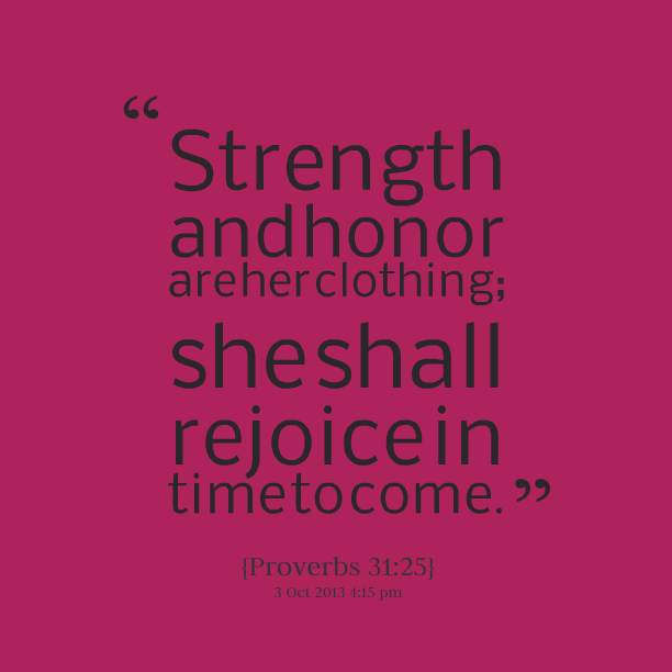 Strength And Honour Quote Facebook thumbnail