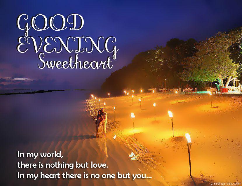 Sweet Good Evening Message For My Love Pinterest thumbnail
