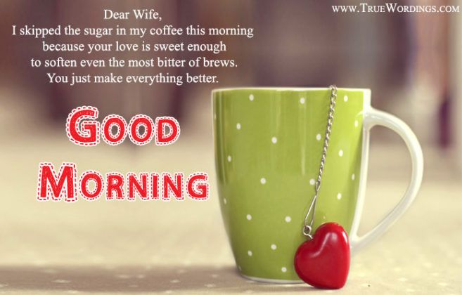Sweet Good Morning Message For My Wife Facebook thumbnail