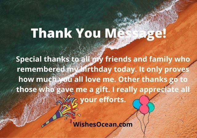 Thank You Birthday Message To Family And Friends Facebook thumbnail
