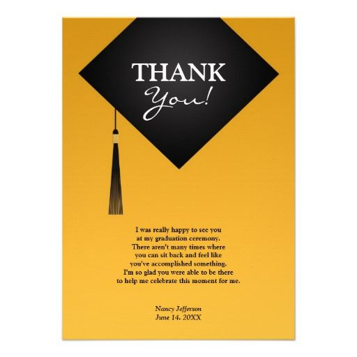 Thank You Card Graduation Sayings Pinterest thumbnail