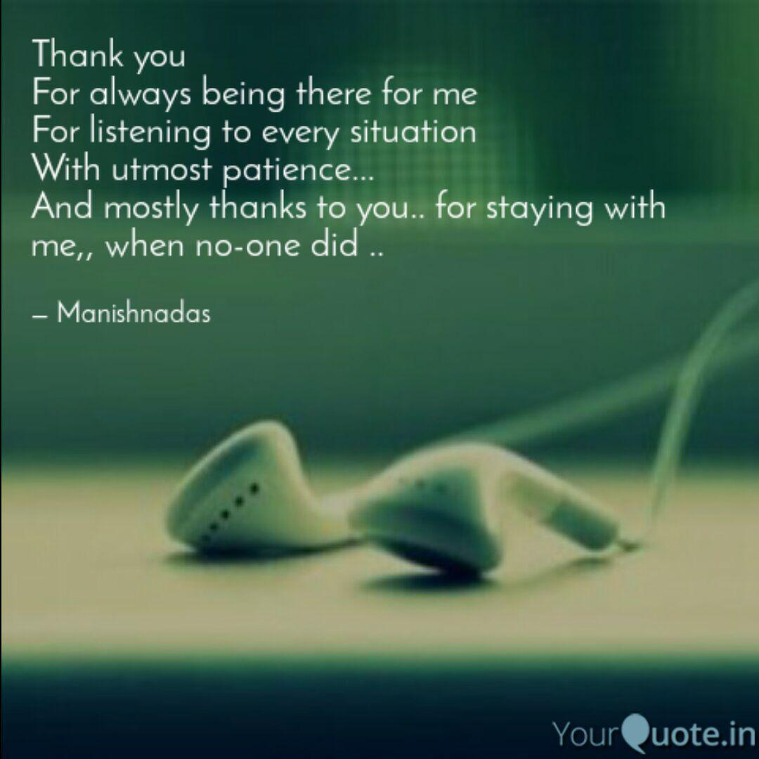Thank You For Being There For Me Quotes Pinterest thumbnail