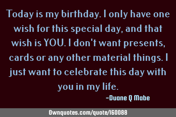 Today Is My Special Day Quotes thumbnail