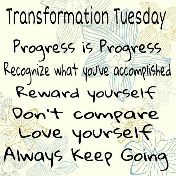 Transformation Tuesday Captions Pinterest thumbnail
