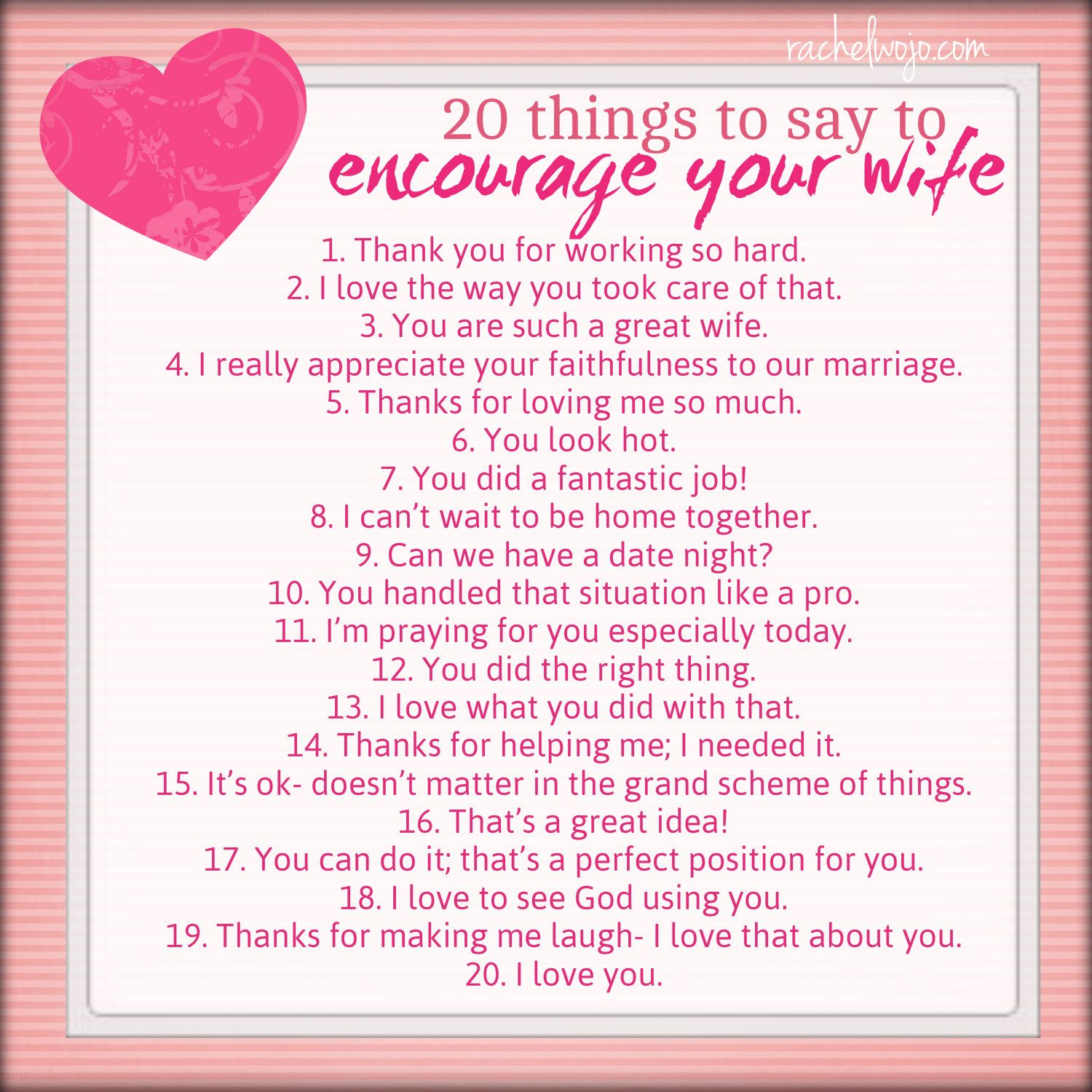 Words Of Encouragement To Your Wife Facebook thumbnail