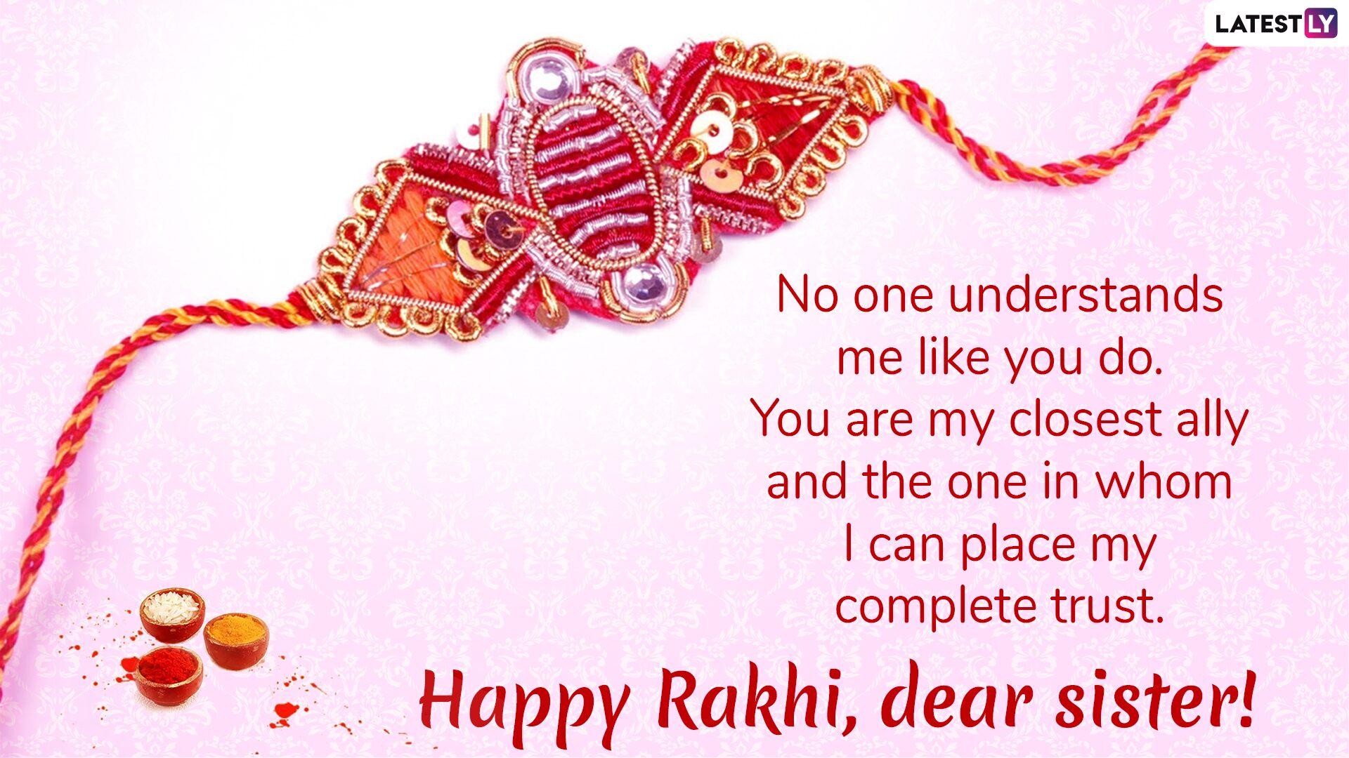 Happy Rakhi Wishes To Sister Pinterest thumbnail